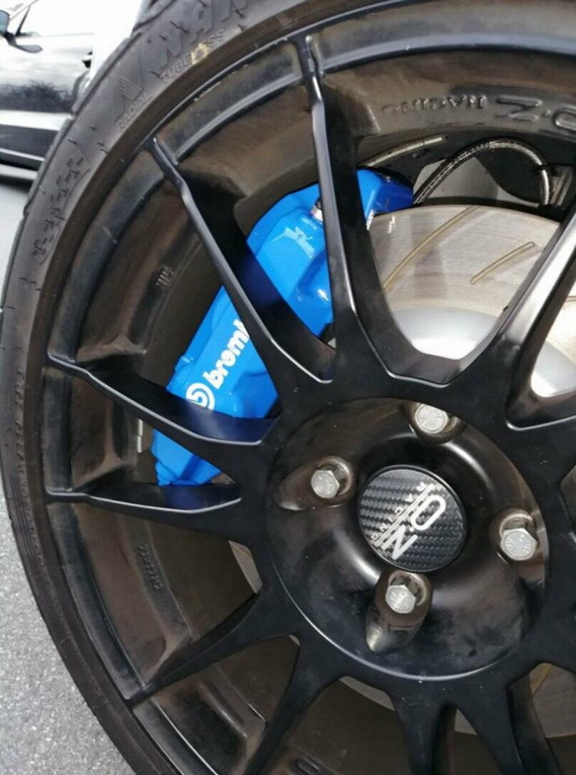 Montaggio su Peugeot 206 RC con disco da 323 mm