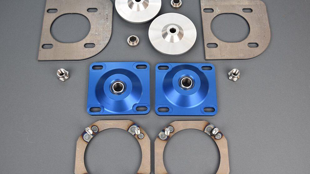 Kit camber Saxo 106 anodizzato blu