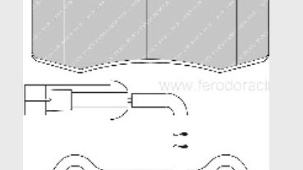Dimensioni pastiglie 1348 C2 R2 406 coupe