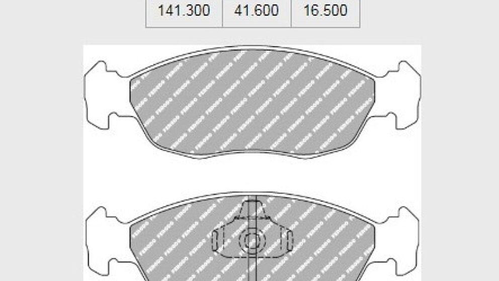 Dimensioni pastiglie freno Saxo 106 pinza serie