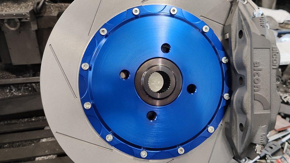 Prova montaggio pinze freno Clio Williams Gr A disco 28x330 1