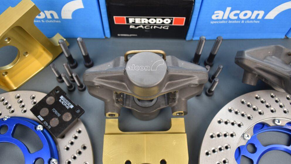 Kit Alcon post braccio serie pinza nuova disco extralight 1 4