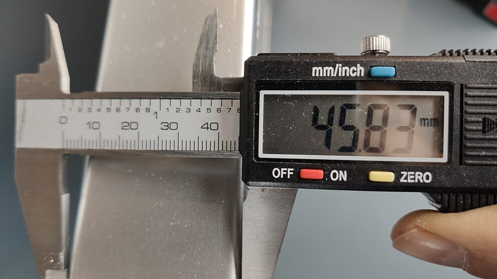 Radiatore alluminio misure 1