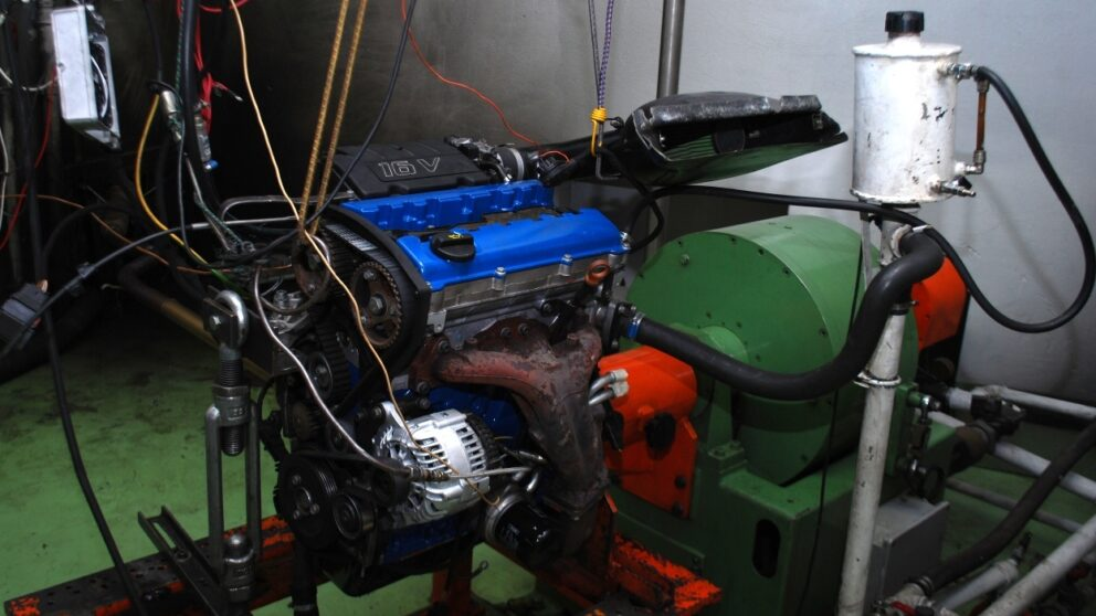 Test banco prova motore filtro Cup