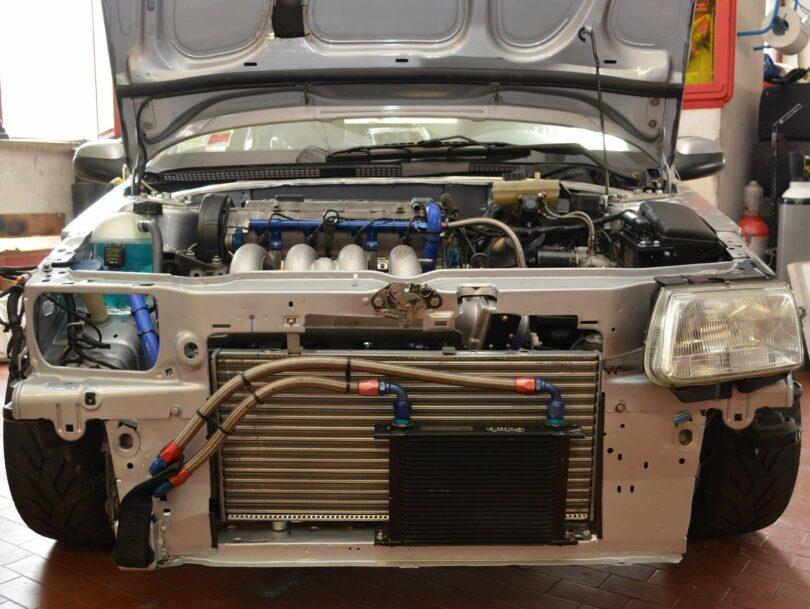 Saxo XU10 J4 RS radiatore custom 2