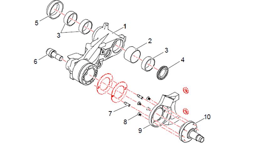 Bracci posteriori Saxo Kit schema