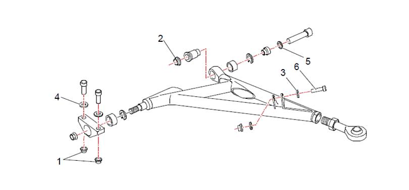 Bracci tubolari Saxo Super 1600 schema