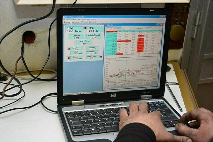 Tecnica motore elettronica mappatura EFI carb