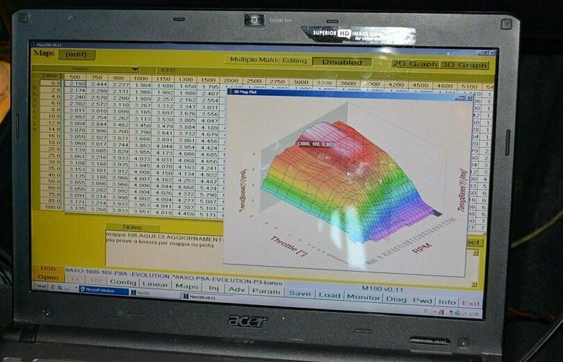 Tecnica motore elettronica mappatura Microtec