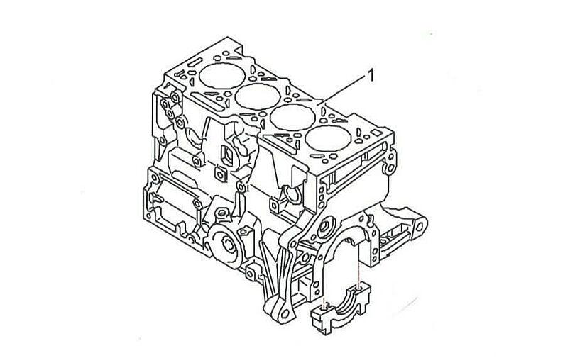 Tecnica motore monoblocco nudo